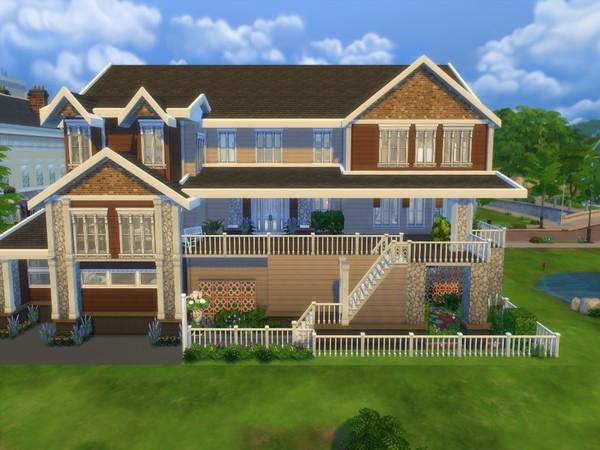 Sims 4 Fremont Craftsman Multi Level Home by Disney Princess Jasmine at TSR