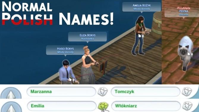 Normal & More Polish Names by Mertikora at Mod The Sims image 6710 670x377 Sims 4 Updates