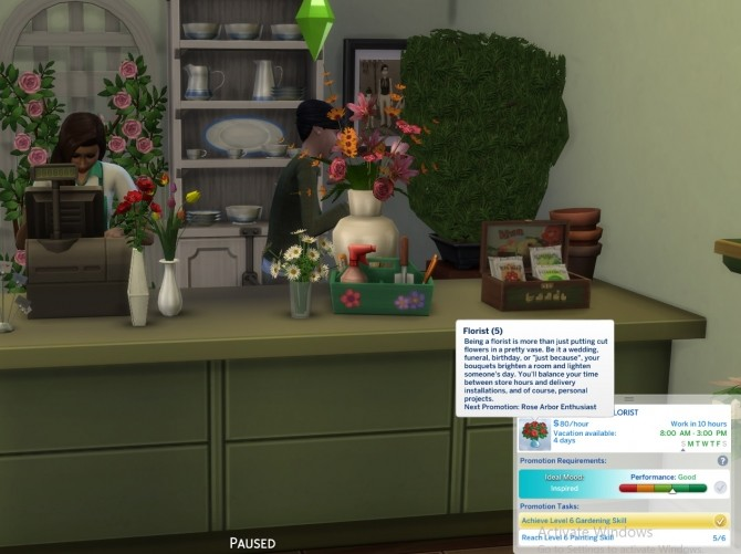 Sims 4 Florist Career by mauvejijno at Mod The Sims
