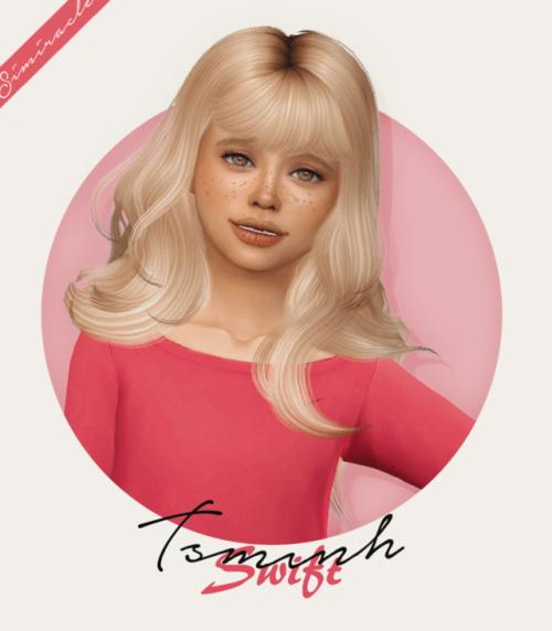 Sims 4 Tsminh Swift Hair Kids Version at Simiracle