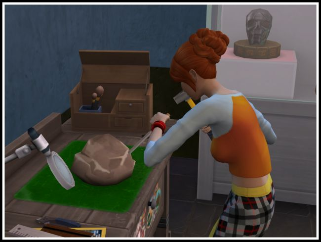 Extract Fossils at the Archaeology Table at LittleMsSam image 6810 Sims 4 Updates