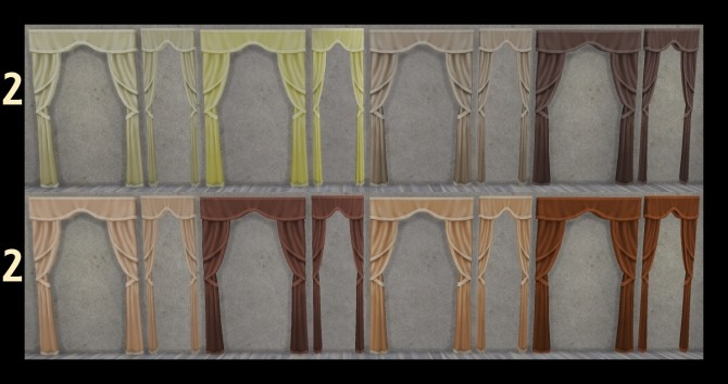Just So Curtains Full and Half Size by Simmiller at Mod The Sims image 6816 670x354 Sims 4 Updates