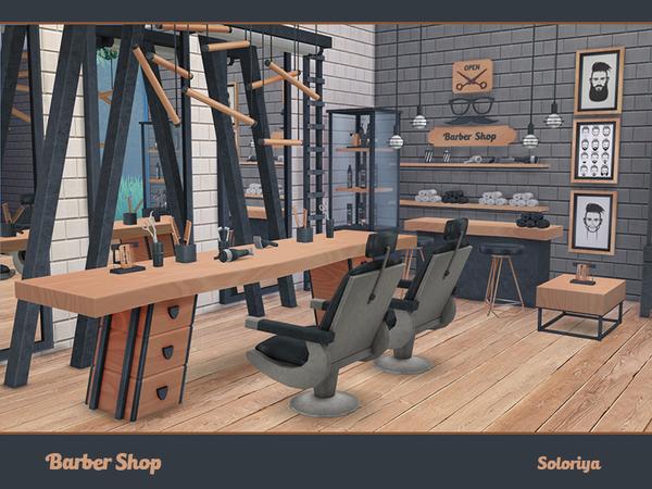 Barber Shop by soloriya at TSR image 693 Sims 4 Updates