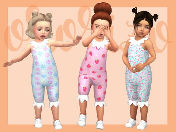 Sims 4 Toddler Playdate N06 Onesie Collar by Ororizo at TSR