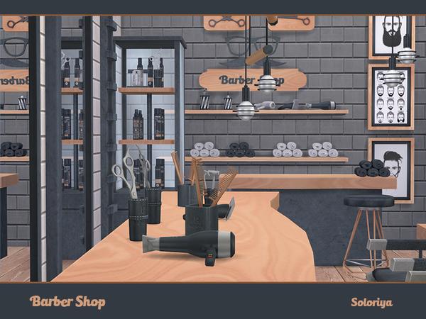 Barber Shop by soloriya at TSR image 717 Sims 4 Updates