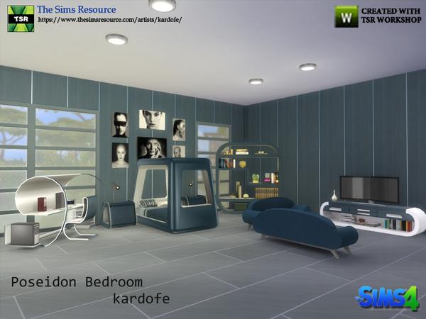 Sims 4 Poseidon Bedroom by kardofe at TSR