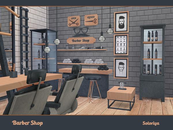 Barber Shop by soloriya at TSR image 724 Sims 4 Updates