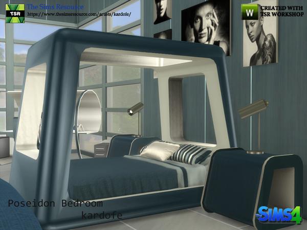 Poseidon Bedroom by kardofe at TSR image 7319 Sims 4 Updates