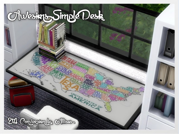 Awesims Simple Desk by Oldbox at All 4 Sims image 743 Sims 4 Updates