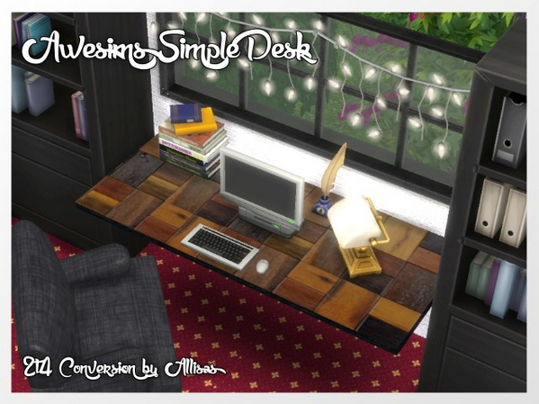 Awesims Simple Desk by Oldbox at All 4 Sims image 753 Sims 4 Updates