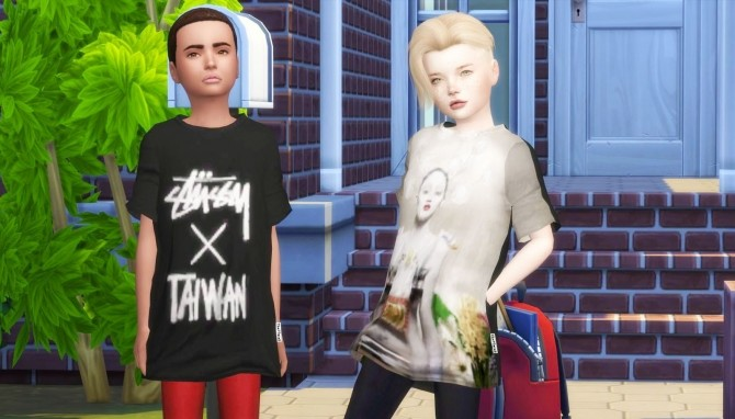 THE 77 SIM3 OVERSIZE T SHIRT TS4 KIDS at REDHEADSIMS – Coupure Electrique image 7622 670x382 Sims 4 Updates