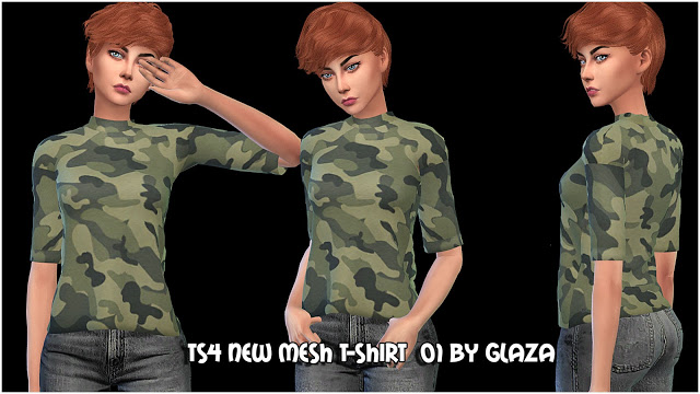 T shirt 01 at All by Glaza image 763 Sims 4 Updates