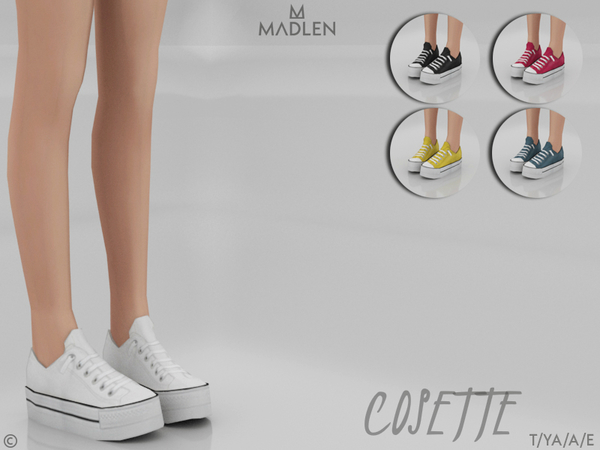 Sims 4 Madlen Cosette Shoes by MJ95 at TSR