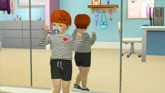 Sims 4 MAY 281M HAIR TODDLER VERSION at REDHEADSIMS