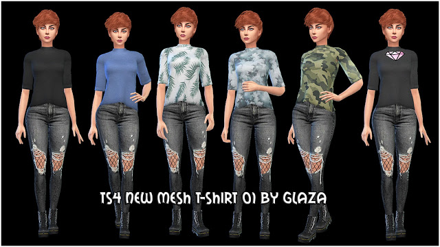 T shirt 01 at All by Glaza image 772 Sims 4 Updates