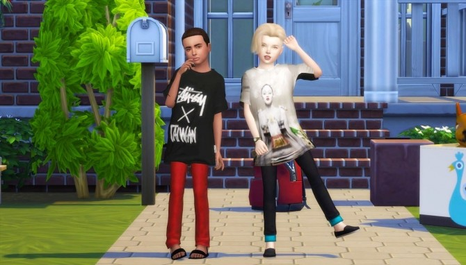 THE 77 SIM3 OVERSIZE T SHIRT TS4 KIDS at REDHEADSIMS – Coupure Electrique image 7722 670x382 Sims 4 Updates