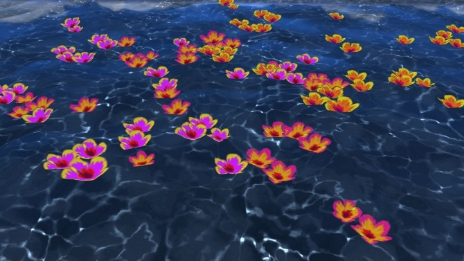 Sims 4 Scattered Blooms by Snowhaze at Mod The Sims