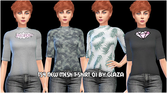 T shirt 01 at All by Glaza image 793 Sims 4 Updates