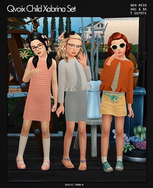 Xabrina Set kids at qvoix – escaping reality image 799 Sims 4 Updates