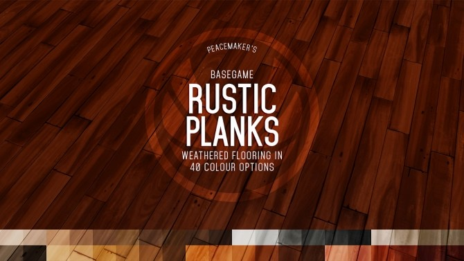 Sims 4 Rustic Planks Rough cut Timber Flooring in Two Sizes at Simsational Designs