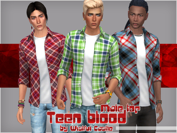Male top by WistfulCastle at TSR image 8100 Sims 4 Updates
