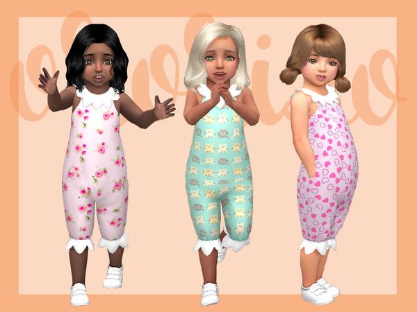 Toddler Playdate N06 Onesie Collar by Ororizo at TSR image 8102 Sims 4 Updates