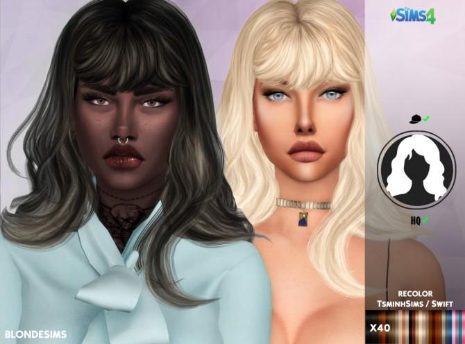 Sims 4 TSMINHSIMS SWIFT HAIR RECOLOR at REDHEADSIMS