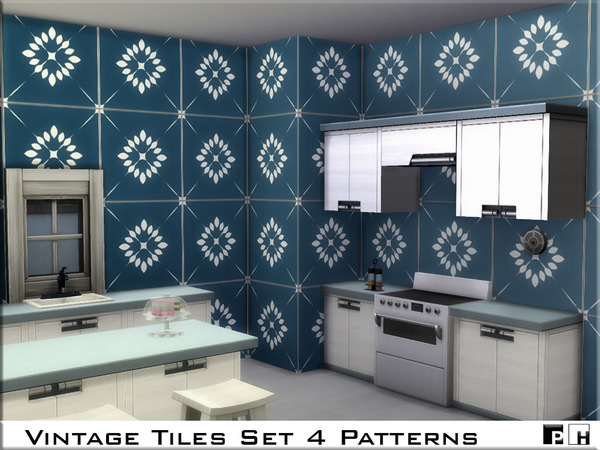 Vintage Tiles Set by Pinkfizzzzz at TSR image 829 Sims 4 Updates