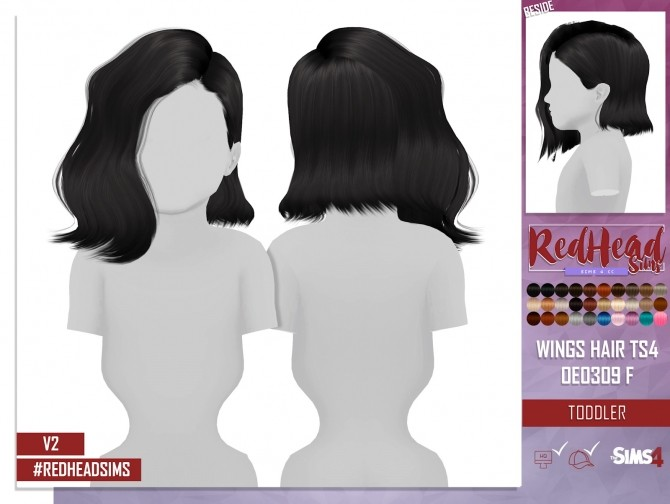 WINGS HAIR TS4 OE0309 F TODDLER VERSION 2 at REDHEADSIMS – Coupure Electrique image 839 670x504 Sims 4 Updates