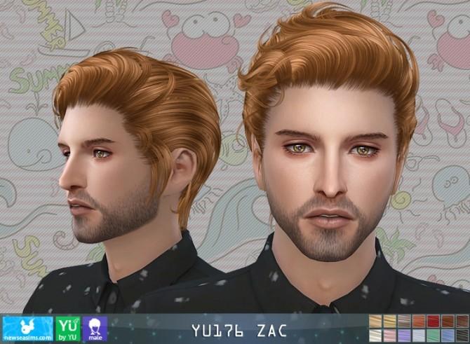 Sims 4 YU176 ZAC hair M (P) at Newsea Sims 4