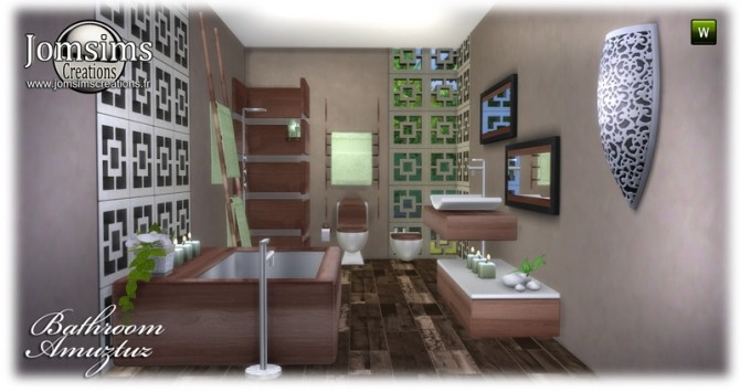 Amuztuz bathroom at Jomsims Creations image 8520 670x355 Sims 4 Updates
