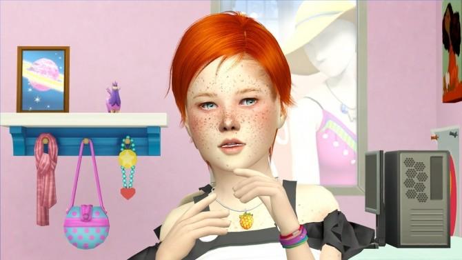Sims 4 ULKER HAIR KIDS AND TODDLER VERSION at REDHEADSIMS