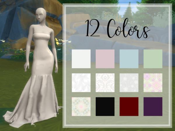 Sims 4 Mermaid Wedding Dress by maretabuniketa at TSR