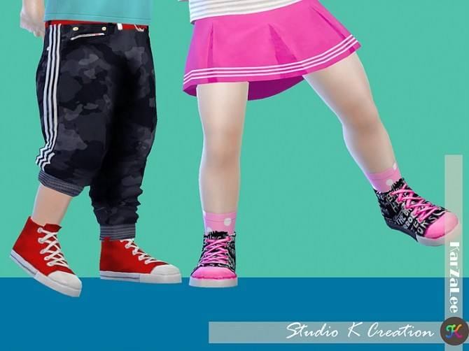 Sims 4 Color fun Sneakers for toddlers at Studio K Creation