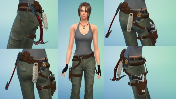Lara Croft Tomb Raider Holster Gun Belt by Sri at Mod The Sims image 8719 670x377 Sims 4 Updates