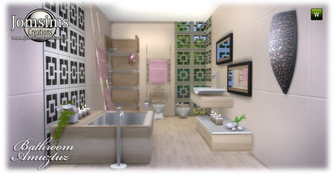 Amuztuz bathroom at Jomsims Creations image 8722 670x355 Sims 4 Updates