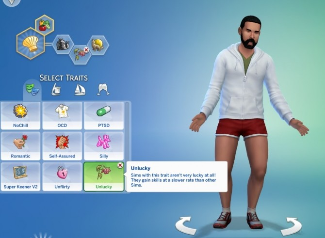 Sims 4 Lucky and Unlucky Traits by GoBananas at Mod The Sims