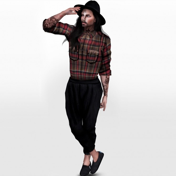 SIMSIMI M ARTSIMS MONSTERSTYLE PLAID OUTFIT EDIT at REDHEADSIMS – Coupure Electrique image 8810 670x670 Sims 4 Updates