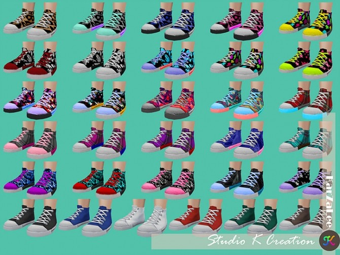 Color fun Sneakers for toddlers at Studio K Creation image 8813 670x502 Sims 4 Updates