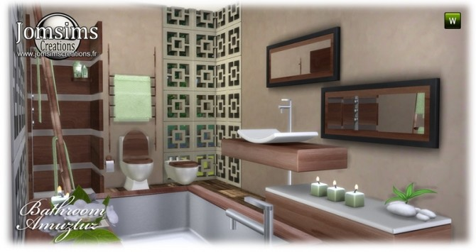 Amuztuz bathroom at Jomsims Creations image 8922 670x355 Sims 4 Updates