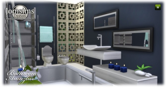 Amuztuz bathroom at Jomsims Creations image 9022 670x355 Sims 4 Updates