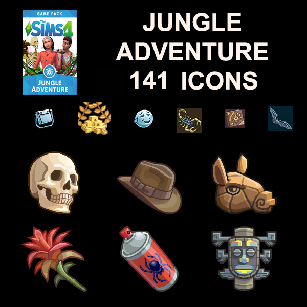 Jungle Adventure Icons by Simmiller at Mod The Sims image 91 Sims 4 Updates