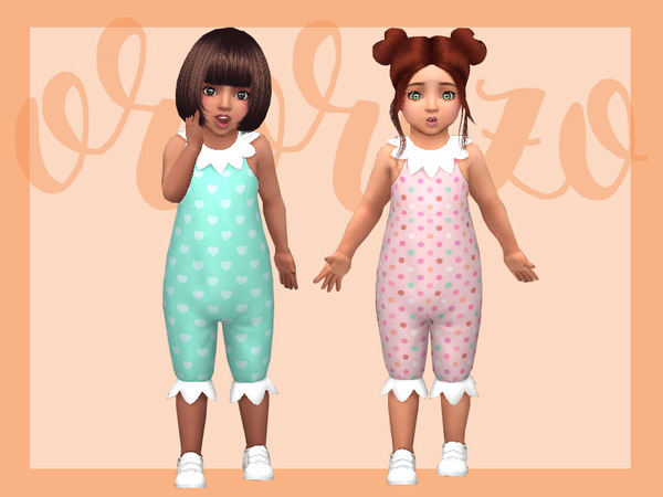 Sims 4 Toddler Playdate N06 Onesie Collar by Ororizo at TSR