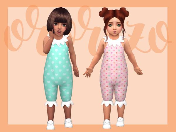 Toddler Playdate N06 Onesie Collar by Ororizo at TSR image 9103 Sims 4 Updates