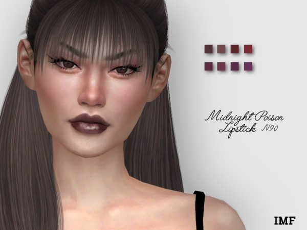 Sims 4 IMF Midnight Poison Lipstick N.90 by IzzieMcFire at TSR