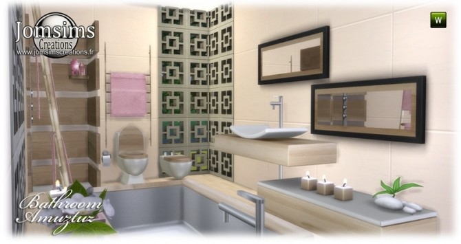 Amuztuz bathroom at Jomsims Creations image 9126 670x355 Sims 4 Updates