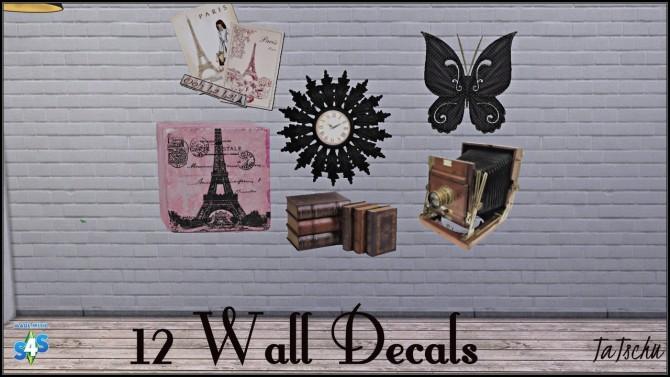 Sims 4 12 wall decals at TaTschu`s Sims4 CC