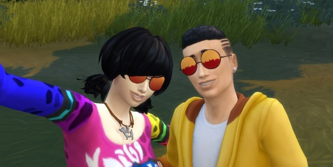 Sims 4 Alucards Glasses (Hellsing) by EmilitaRabbit at Mod The Sims