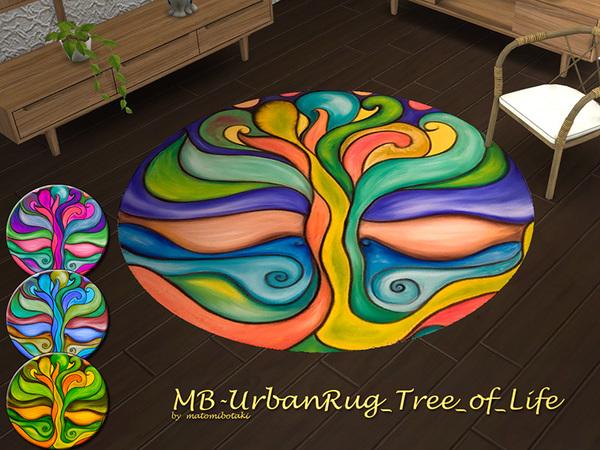 Sims 4 MB Urban Rug Tree of Life by matomibotaki at TSR