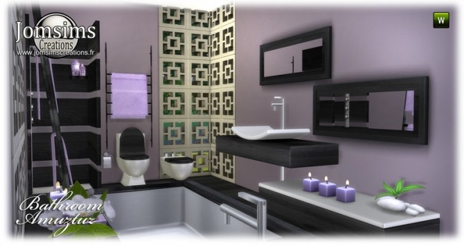 Amuztuz bathroom at Jomsims Creations image 9223 670x355 Sims 4 Updates